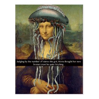 """Mona neue Mütze "" Postkarte"