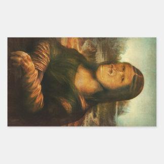 Mona Rilla alias Mona Lisa Rechteckiger Aufkleber