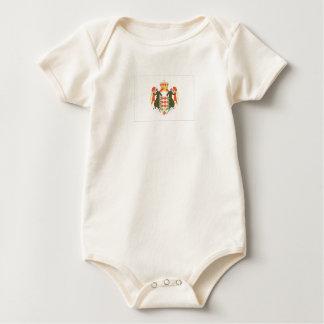 Monaco-Flagge Baby Strampler