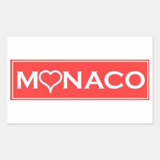Monaco Rechteckiger Aufkleber