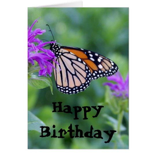 Monarch auf lila Blume, alles Gute zum Geburtstag Karte | Zazzle.ch