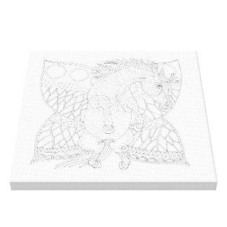 Monarch-Bremsen-Linie Kunst-Entwurf Leinwanddruck