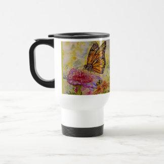 Monarch-Schmetterlings-Kunst-Reise-Tasse Edelstahl Thermotasse