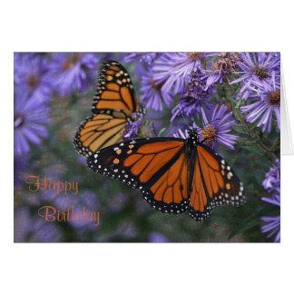 Monarchfalter-alles Gute zum Geburtstag Karte