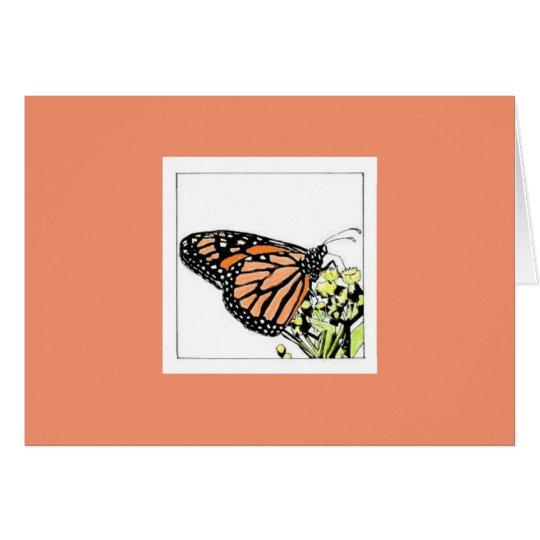 Monarchfalter (Colorized) Mitteilungskarte