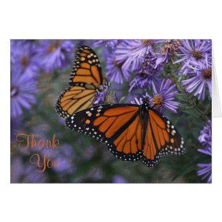 Monarchfalter danken Ihnen Karte