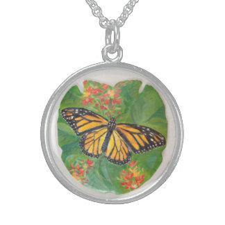 Monarchfalter-Halskette Sterling Silberkette