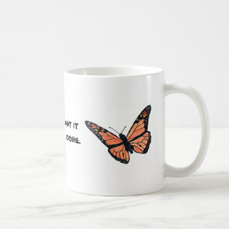 Monarchfalter mit Milkweed Kaffeetasse