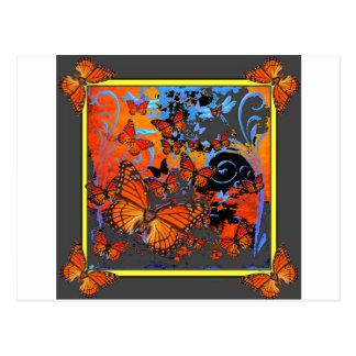 Monarchfalter-stürmisches Wetter-Kunst Postkarte