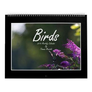 Monatskalender der Vogel-2018 durch Thomas Kalender