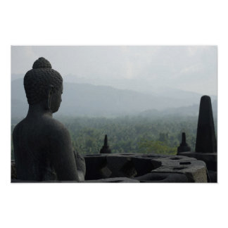 Mönch von Borobudur Poster