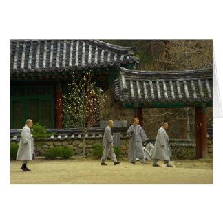 Mönche an palgong Berg, Südkorea Karte