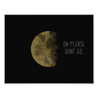 Mond-Druck und Zitat Fotodruck