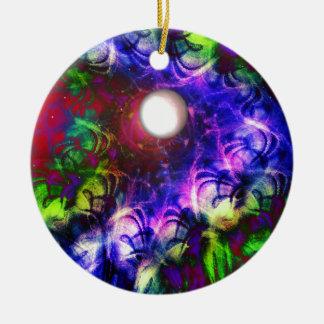 Mond-Glühen Rundes Keramik Ornament