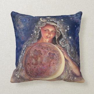 Mond-Göttin-Wurfs-Kissen Kissen