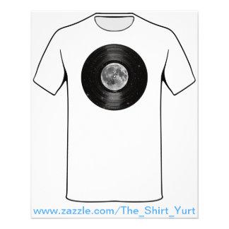 Mond in Raum-Vinyl-LP-Aufzeichnung