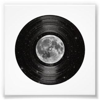 Mond in Raum-Vinyl-LP-Aufzeichnung Foto
