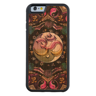 Mond-Mandala hölzerner iPhone 6 Fall Bumper iPhone 6 Hülle Kirsche
