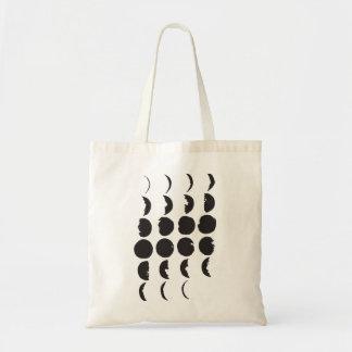 Mond-Phasen-Hand gezeichnete Taschen-Tasche Tragetasche
