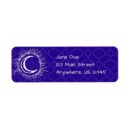 """""""Mond-"""" Postsendung-Adressen-Etiketten Rücksendeetiketten"""
