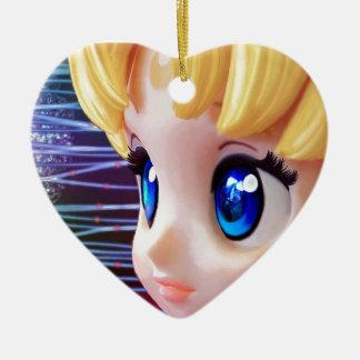 Mond-Puppe Keramik Ornament