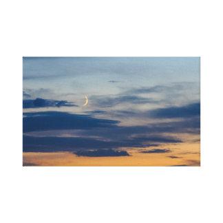 Mond-Sonnenuntergang eingewickelte Leinwand