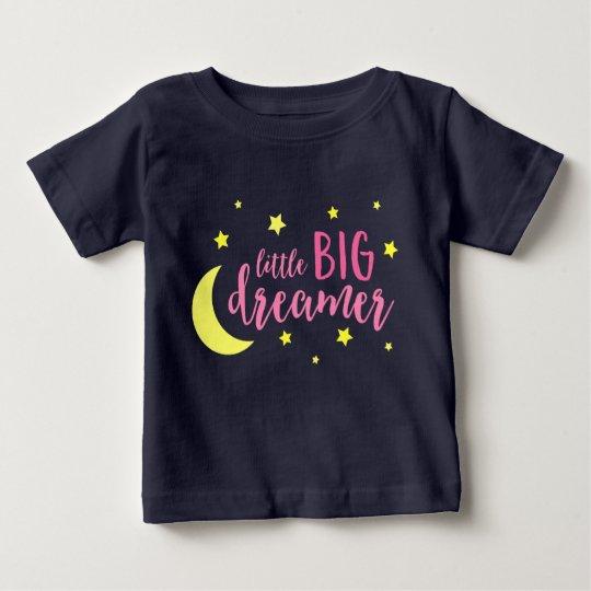 Mond-u. Stern-rosa kleiner großer Träumer-Baby-T - Baby T-shirt