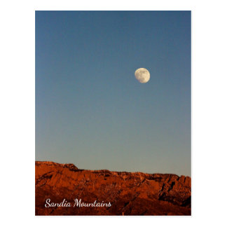 Mond über Sandias Postkarte