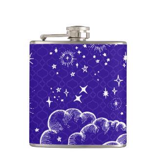 """""""Mond-und Stern-"""" trinkende Flasche (WH/BLU/PUR) Flachmann"""