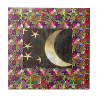 Mond und Sterne: Eleganter sternenklare Fliese