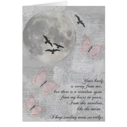 Mond-Vögel weg von Ihnen Rumi Karte