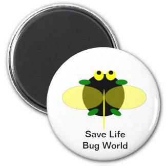Monde d'insecte magnet rond 8 cm