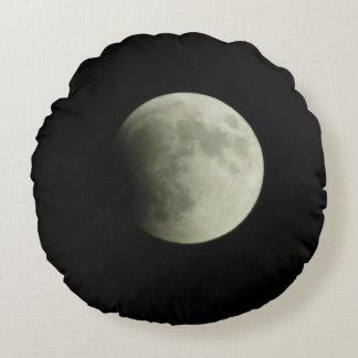 Mondfinsternis-Mond-Kissen Rundes Kissen