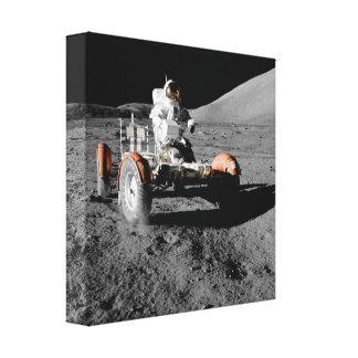 Mondlandungs-Astronauten-Buggyraum Leinwanddruck