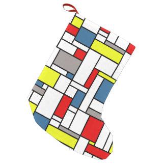 Mondrian Artentwurf Kleiner Weihnachtsstrumpf