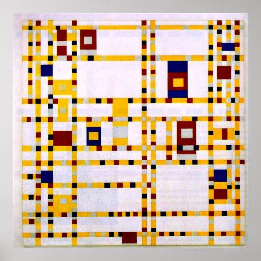 Mondrian - Broadway-Boogie Woogie Poster