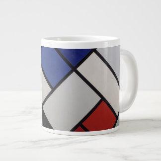 Mondrian inspirierte Mod-Tasse! Jumbo-Mug