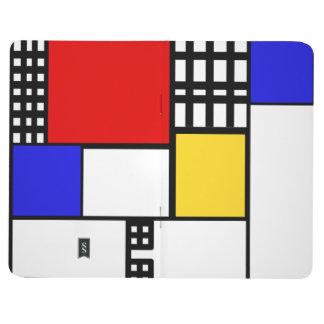 Mondrian inspirierte Zeitschrift Taschennotizbuch