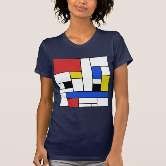 Mondrian zeichnet das Jersey-T - Shirt der Frauen