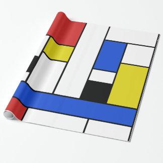 """Mondrian zeichnet glattes Packpapier, 30"""" x 6' Geschenkpapier"""