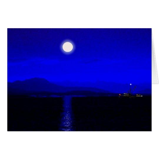 Mondschein-Durchgang Grußkarte