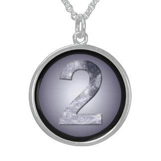 Mondschwarz-Grenzgöttin-Zahl des kreis-glückliche Sterling Silberkette