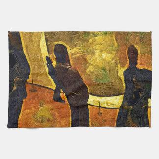 Monet am Museum der moderner Kunst NYC Handtuch