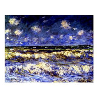 Monet - ein stürmisches Meer Postkarte