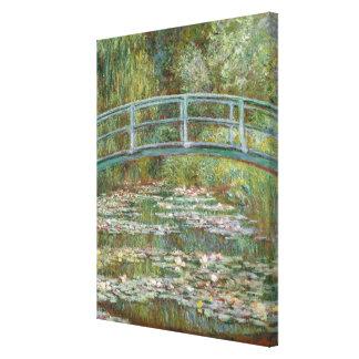 Monet Kunst-Brücke über einem Teich der Leinwanddruck
