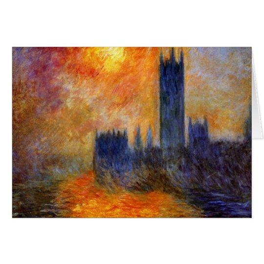 Monet - Parlament in der Sonne - Grußkarte