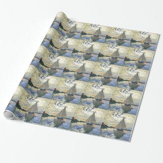Monet - Segelboot bei Le Klein-Gennevilliers Geschenkpapier