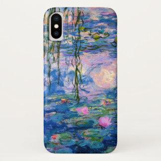 Monet Wasser-Lilien mit Teich-Reflexionen iPhone X Hülle