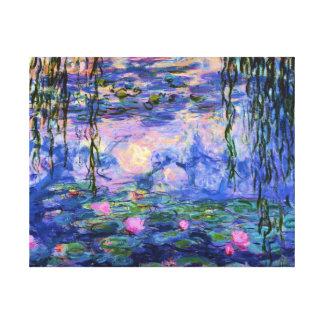 Monet Wasser-Lilien mit Teich-Reflexionen Leinwanddruck