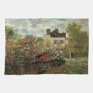 Monets Garten in Argenteuil durch Claude Monet Geschirrtuch